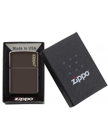 Zippo Lighter Classic Brown Matte Zippo Logo