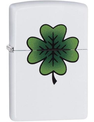 Zippo Upaljač White Matte Clover Design