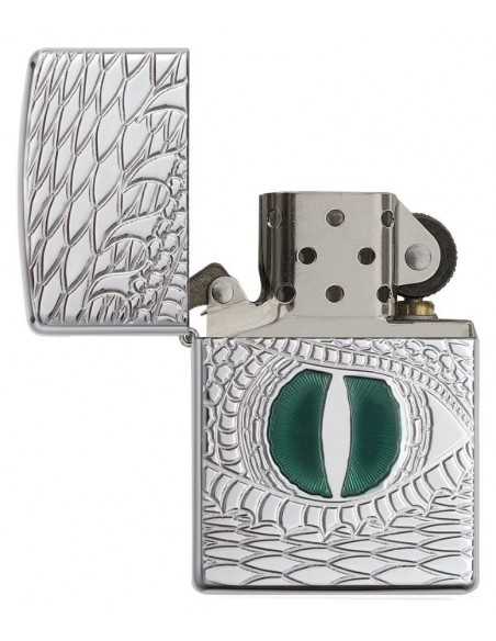 Zippo Lighter High Polish Armor Dragon Eye