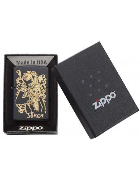 Zippo Lighter Black Matte Joker