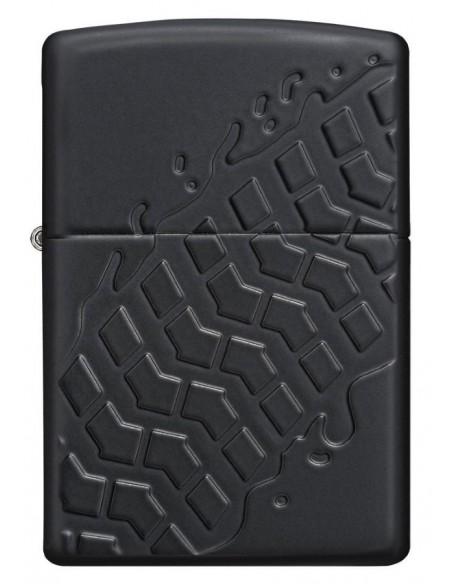 Zippo Lighter Armor Black Matte Tire Tread