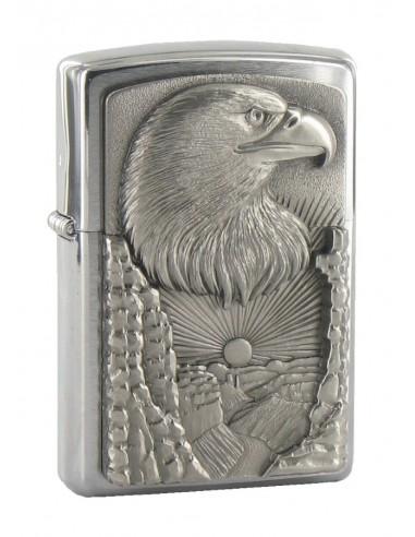 Zippo Upaljač Brushed Chrome Eagle Grand Canion Emblem