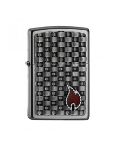 Zippo Upaljač Satin Chrome Gear Box Emblem