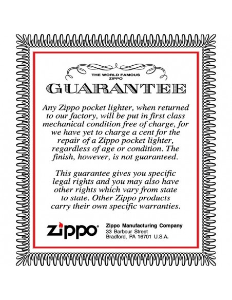 Zippo Lighter Satin Chrome Gear Box Emblem