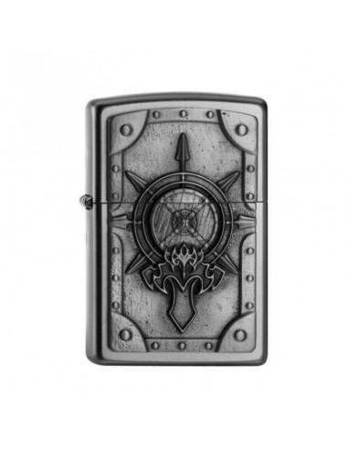 Zippo Upaljač Satin Chrome Battle Shield Emblem