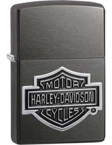 Zippo Lighter Grey Dusk Iced Harley Davidson Emblem