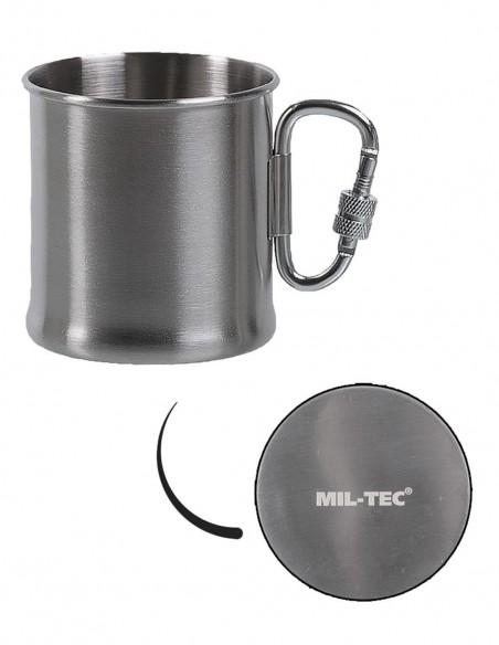 Sturm MilTec Stainless Steel Mug With Carabiner 250ml