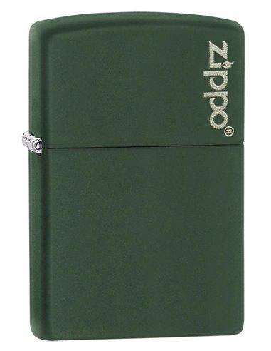 Zippo Lighter Classic Olive Matte Zippo Logo