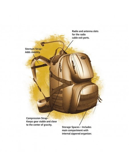 SOURCE PATROL 35 HYDRATION BACKPACK COYOTE