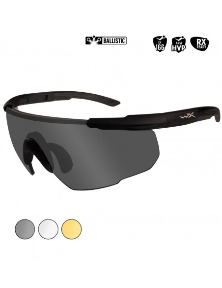 WILEY X SABER ADVANCED BALLISTIC SUNGLASSES SMOKE / CLEAR / RUST