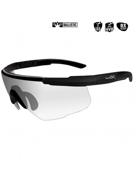 WILEY X SABER ADVANCED BALLISTIC SUNGLASSES CLEAR