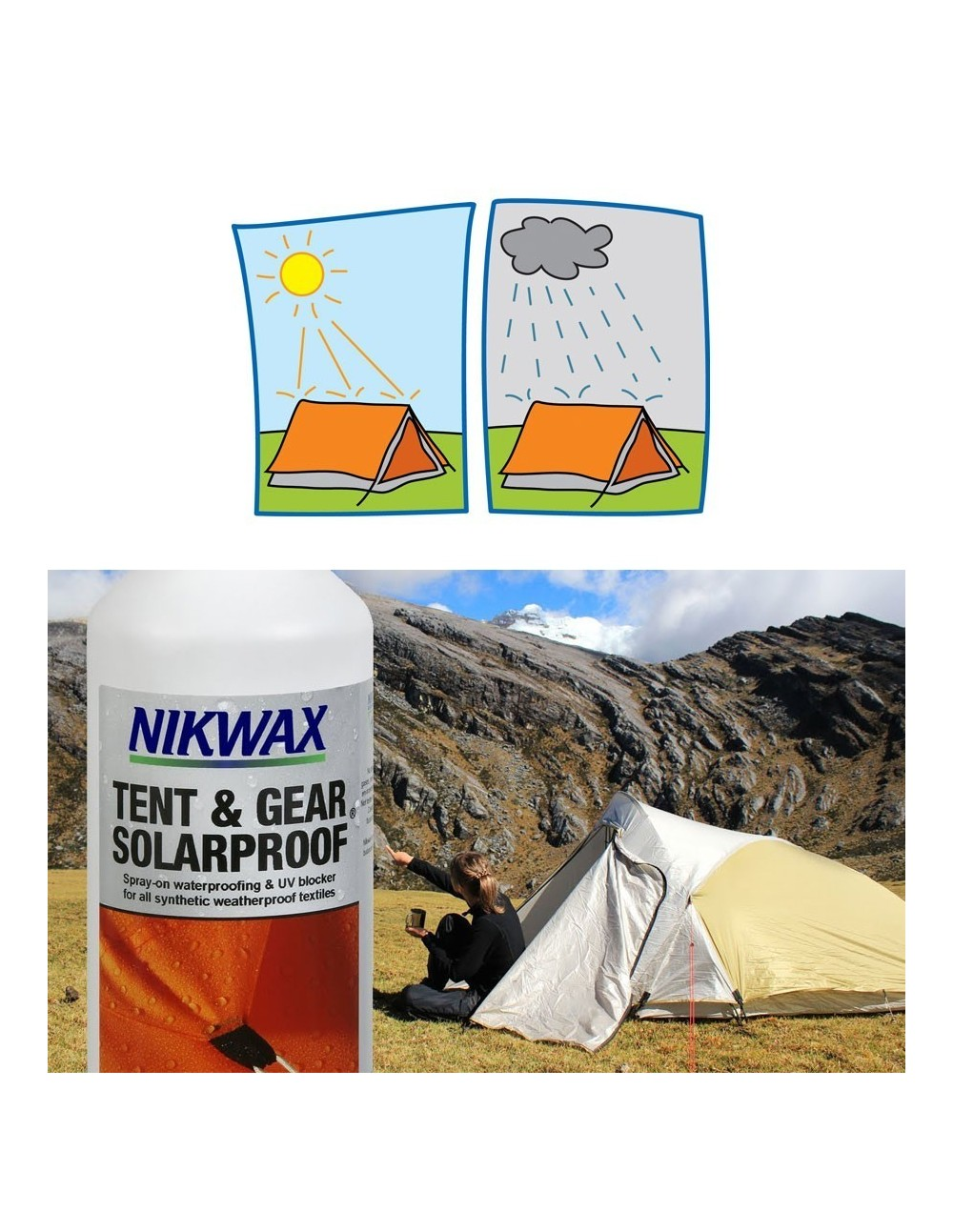d29906d35fae NIKWAX TENT AND GEAR WATERPROOF   SOLARPROOF SPRAY 500ML