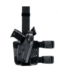 SAFARILAND TACTICAL LEG HOLSTER W/ SELF LOCKING SYSTEM (SLS™) MODEL 6004 BLACK
