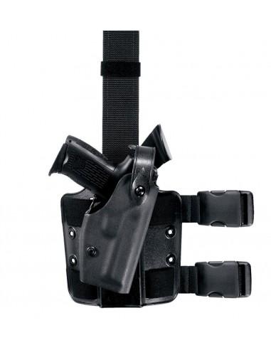 SAFARILAND TACTICAL LEG HOLSTER W/ SELF LOCKING SYSTEM (SLS™) MODEL 6004 BLACK