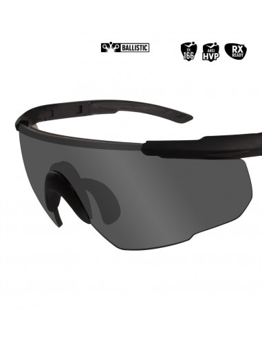 WILEY X SABER ADVANCED BALLISTIC SUNGLASSES SMOKE GREY