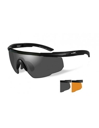 WILEY X SABER ADVANCED BALLISTIC SUNGLASSES SMOKE / RUST