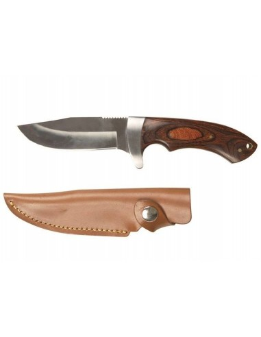 STURM HUNTING KNIFE WITH WOODEN HANDLE