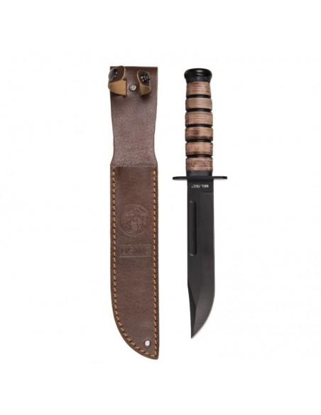 STURM USMC COMBAT KNIFE WITH LEATHER SHEATH