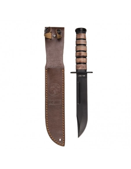 STURM USMC COMBAT KNIFE WITH LEATHER SHEATH