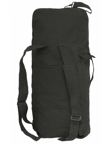 STURM US DUFFLE BAG DOUBLE STRAP COTTON BLACK