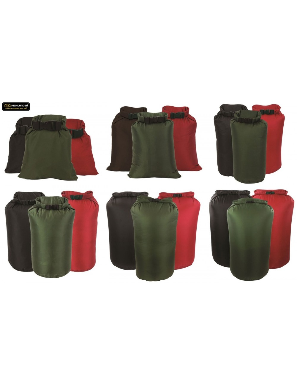 HIGHLANDER DB109 LIGHTWEIGHT WATERPROOF ROLL TOP DRY BAG SACK POUCH RED 4L