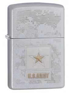 Zippo Lighter Satin Chrome US Army