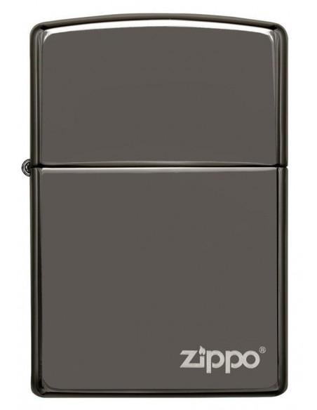 Zippo Lighter Classic Black Ice Zippo Logo