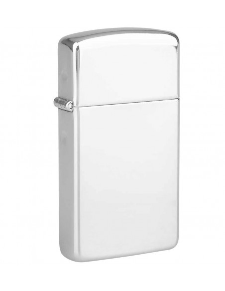 Zippo Lighter Slim High Polish Chrome