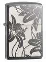 Zippo Lighter High Polish Black Ice Lilly