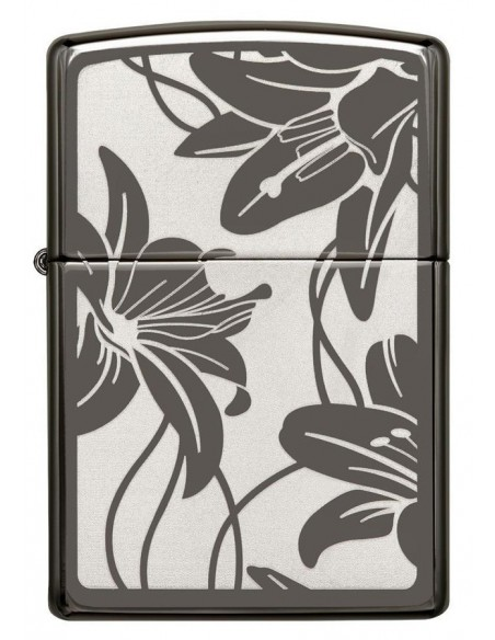 Zippo Upaljač High Polish Black Ice Lilly