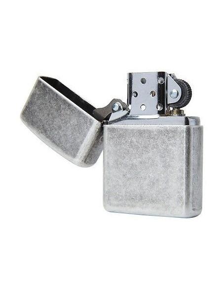 Zippo Lighter Armor Antique Silver Plate
