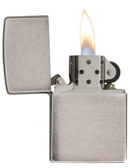 Zippo Lighter Armor Brushed Chrome