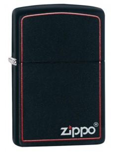 Zippo Lighter Classic Black Matte Zippo Logo Border