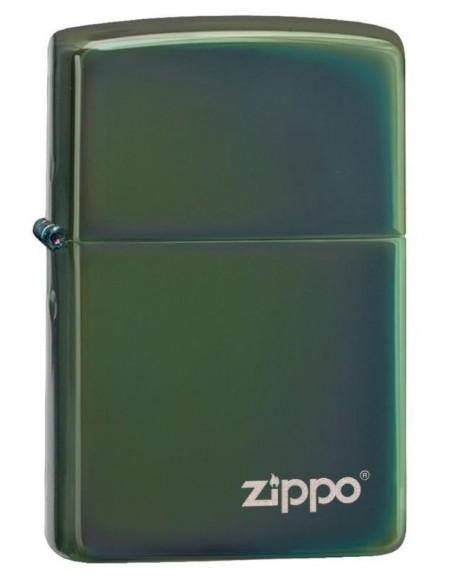 Zippo Lighter Chameleon Green Zippo Logo