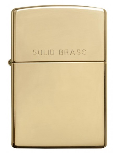 Zippo Lighter Classic Solid Brass High Polish Brass