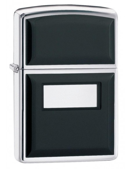 Zippo Lighter Black Ultralite High Polish Chrome