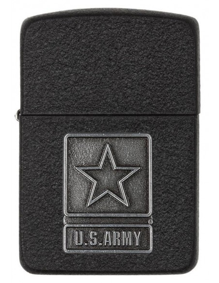Zippo Lighter Replica 1941 Black Crackle US Army Emblem