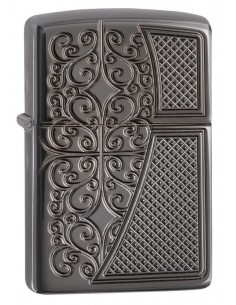 Zippo Upaljač Armor Black Ice Old Royal Filigree