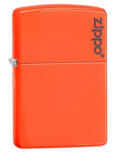 Zippo Lighter Neon Orange Zippo Logo
