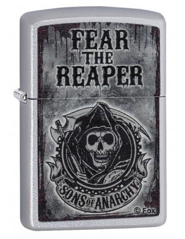 "Zippo Upaljač Satin Chrome Sons of Anarchy ""Fear the Reaper"""