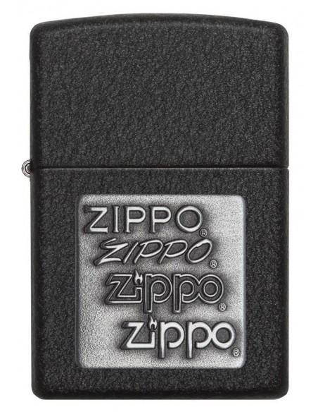 Zippo Upaljač Black Crackle Silver Emblem Zippo Zippo Zippo