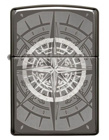 Zippo Lighter Black Ice Compass