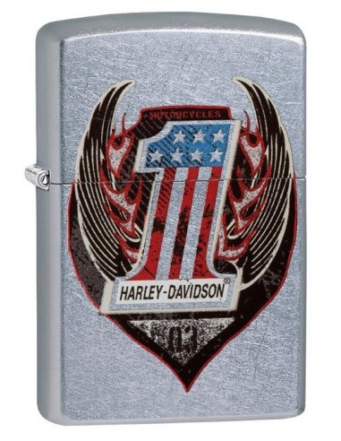 Zippo Upaljač Street Chrome Harley Davidson Wings One