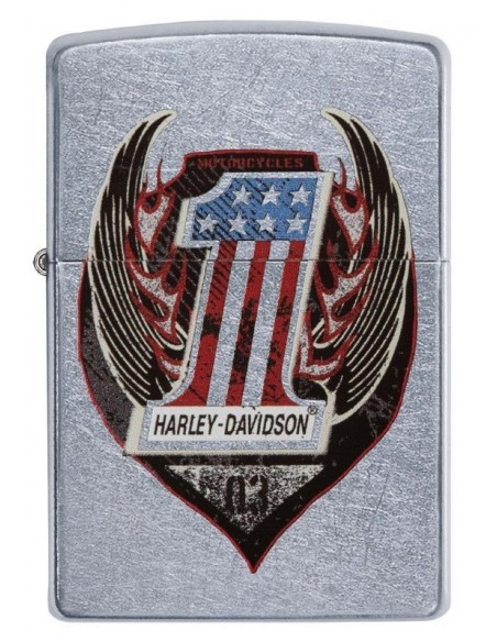 Zippo Lighter Street Chrome Harley Davidson Wings One