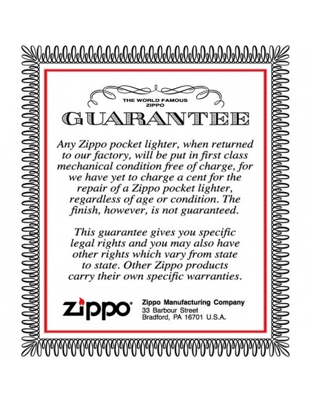 Zippo Lighter Brushed Chrome Full House Emblem