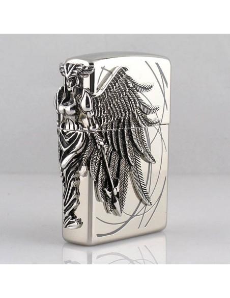 Zippo Lighter High Polish Chrome Amazon Women Warrior Emblem