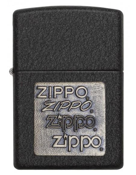 Zippo Upaljač Black Crackle Brass Embelm Zippo Zippo Zippo