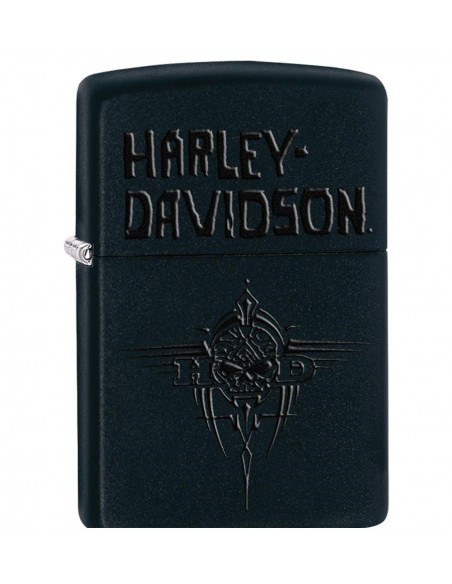 Zippo Lighter Black Matte Harley Davidson Mens Tribal Willie G