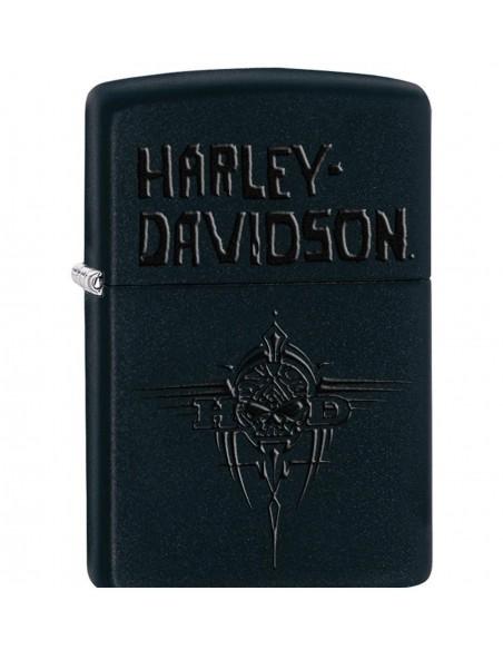 Zippo Upaljač Black Matte Harley Davidson Mens Tribal Willie G