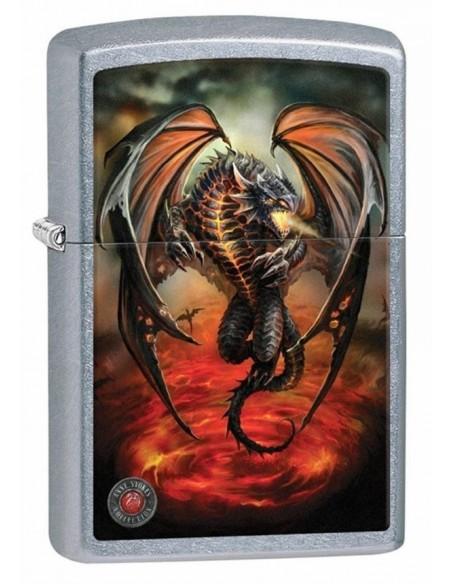 Zippo Upaljač Street Chrome Anne Stokes Red Dragon